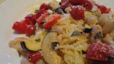 Spaghetti Squash with Ratatouille