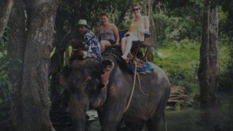 Munter the Elephant took us for a ride through the jungle near Krabi, Thailand.