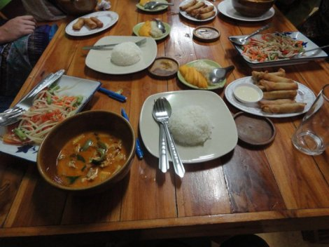 The food we made at Smart Cook in Krabi, Thailand!