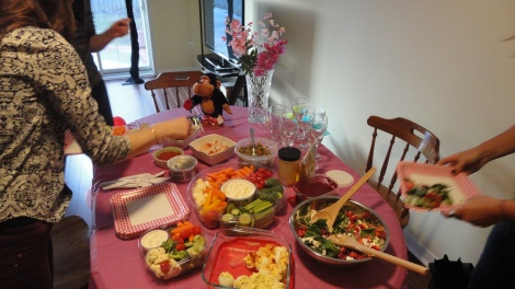 Surprise Engagement Party Spread