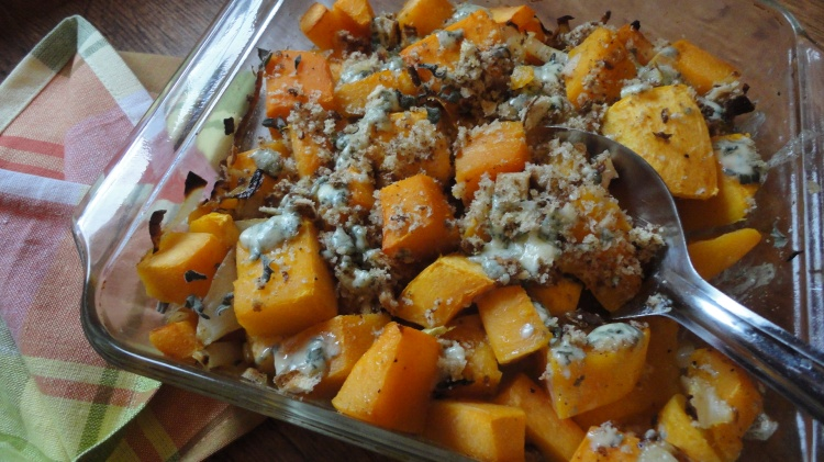 Butternut Squash and Blue Cheese Casserole