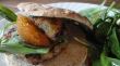 Chicken Burger with Parsley, Peaches and Dijon Mustard