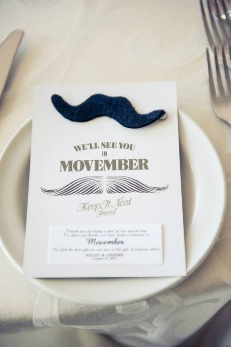 Movember Wedding Favours