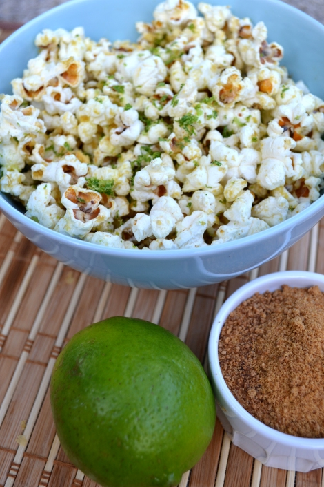 Margarita Popcorn with coconut sugar and lime